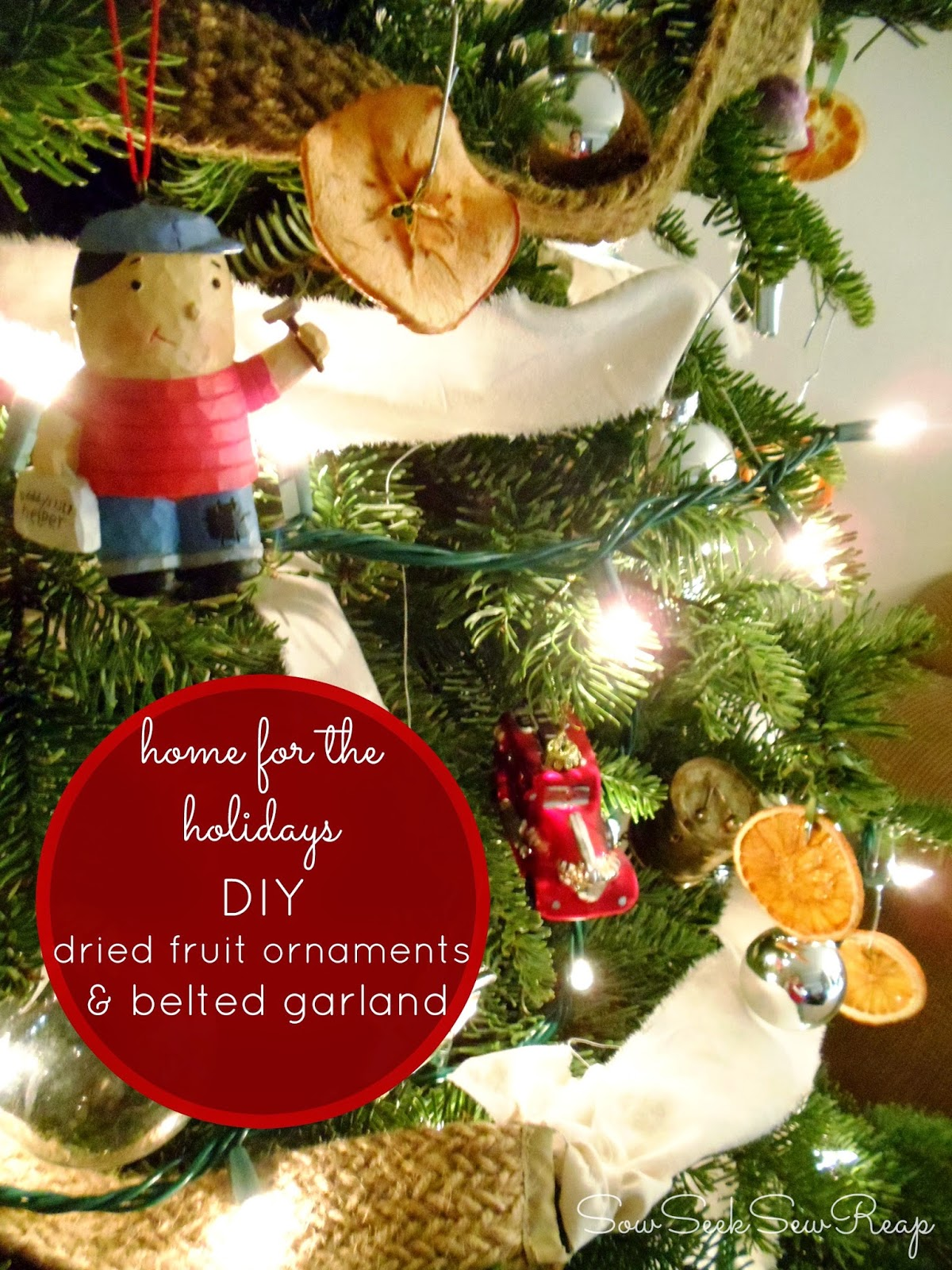 DIY DRIED FRUIT ORNAMENTS, DIY BELTED GARLAND, CHRISTMAS CRAFTS