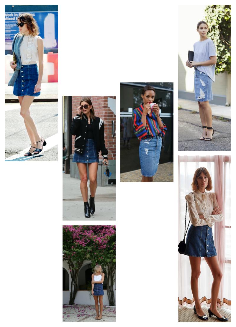 Trending: Denim skirt by post and pin