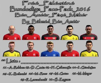 PES 2013 Bundesliga Face Pack 2016 By Bàhméd Bén Améùr