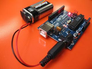 Arduino com bateria de 9V