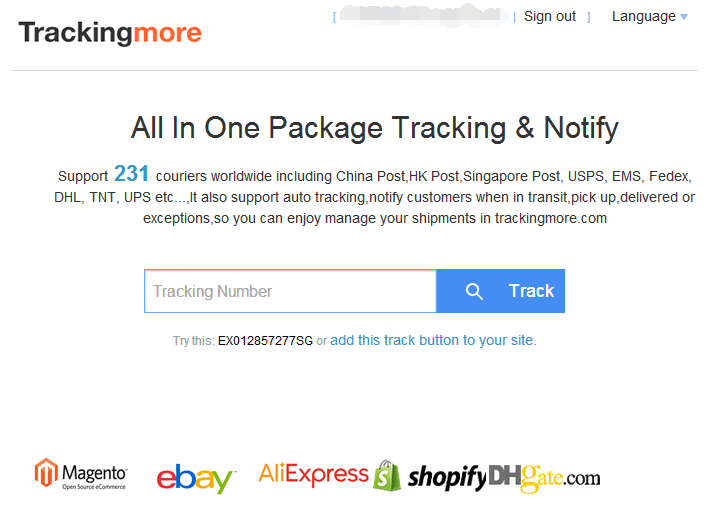 trackingmore: Batch Track your packages from China