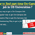 How to find part time On-Campus job in US Universities ?