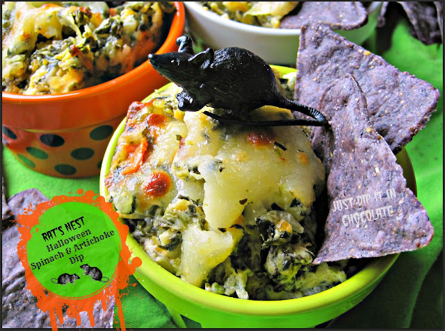 Rat's Nest Halloween Spinach and Artichoke Dip, every good party needs a great dip. A Halloween Party needs a Spooktacular one! This is it!
