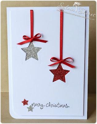 Tarjeta Navidad estrellas DIY
