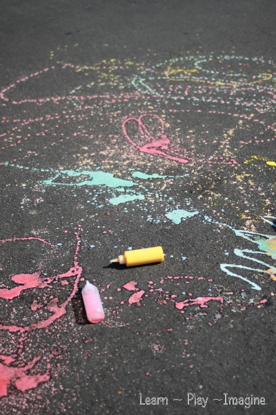 Scented sidewalk chalk paint recipe