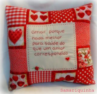 almofadas românticas da Samariquinha
