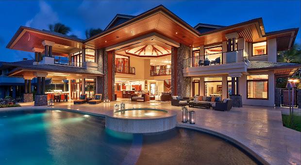 Hawaii Beach House Mansion