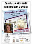 CUENTACUENTOS DE MARÍA DOMINGUEZ EN MAZAGÓN