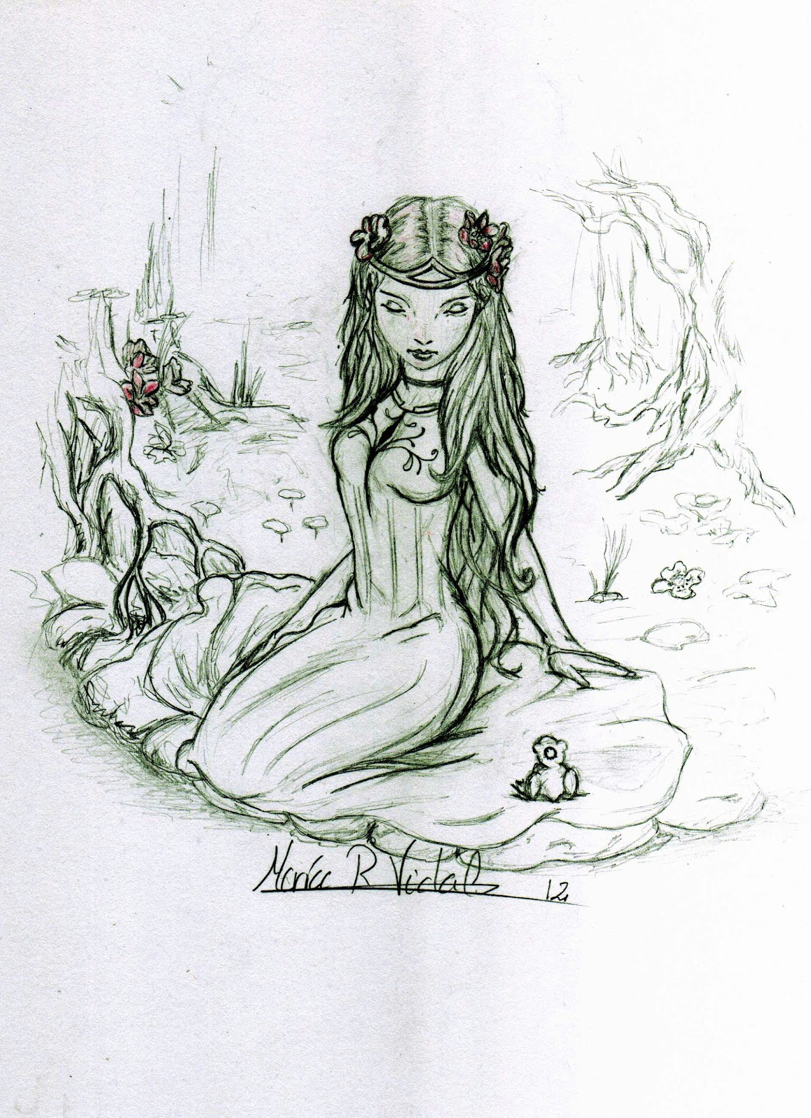 Drawings And Sketches While Studying Fables The Princess Princess And The Frog Drawing