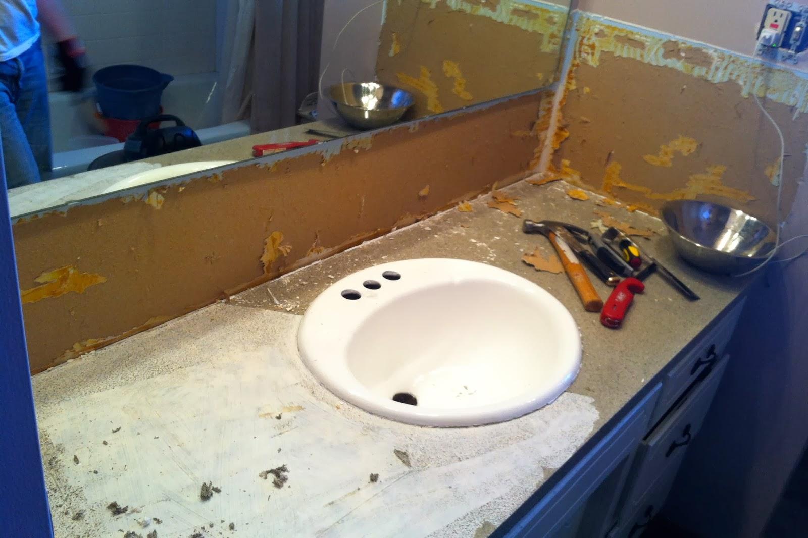Diy why spend more bathroom demo for Diy bathroom demolition