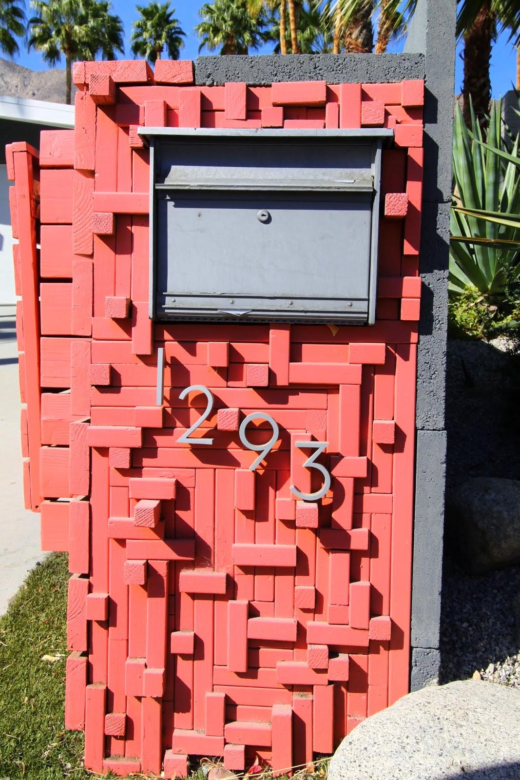 Brutalist Mailbox Rancho Las Palmas Palm Springs