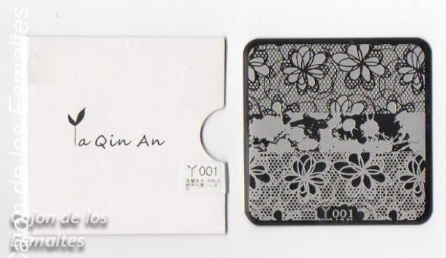 Placa Y001 de Ya Qin An
