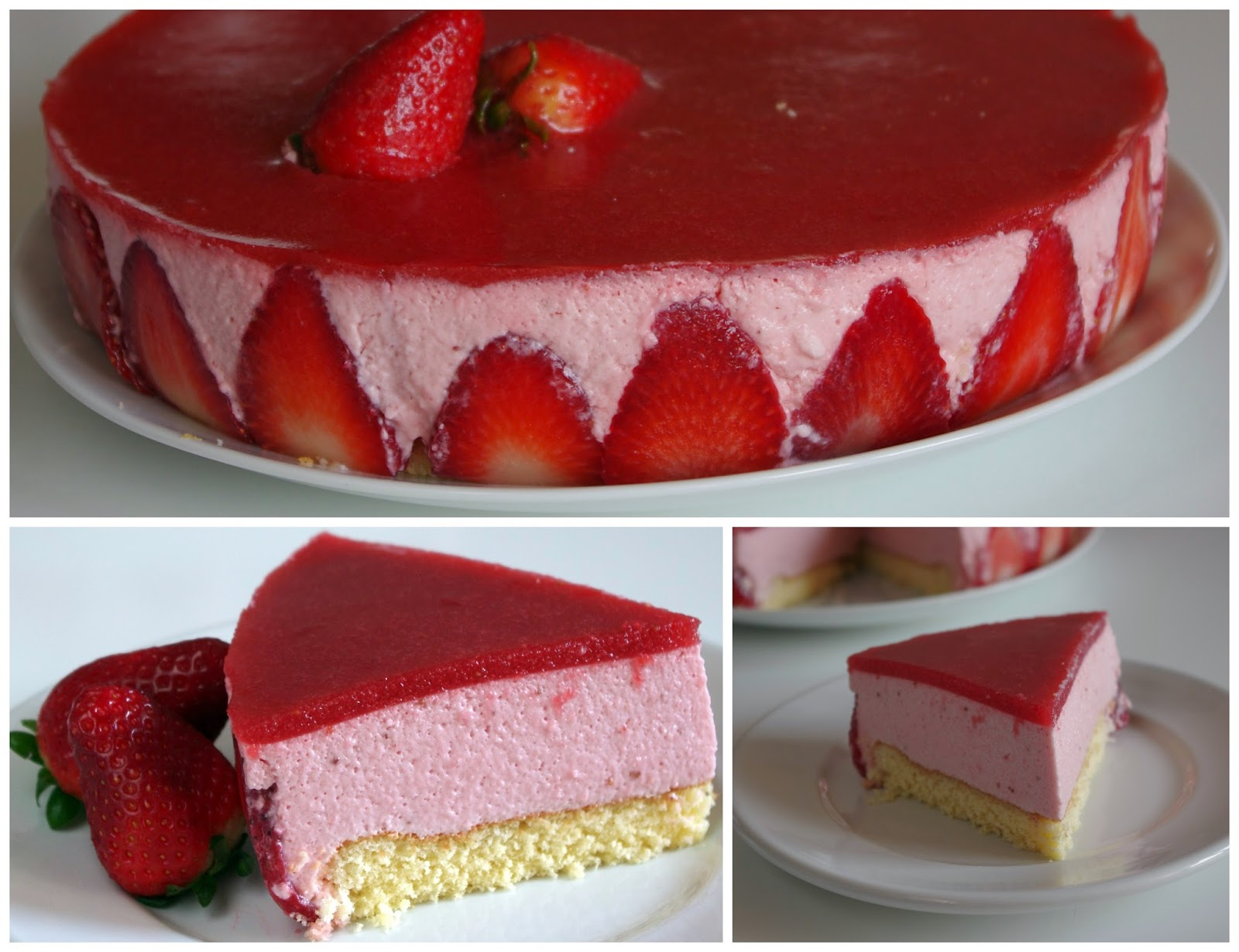 Tarta de mousse de fresas factor a de dulces - Mousse de fresa ...