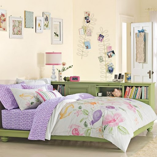 Teen Bedroom Girls Idea Space Saver Design Decor Green Lavender Purple