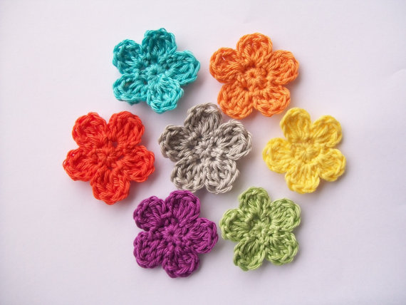 Free Crochet Pattern Simple Flower : Flower Girl Cottage : Free Crochet Flower Pattern The ...