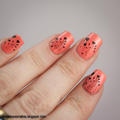 China Glaze Mimosa's before manis - stamping m83