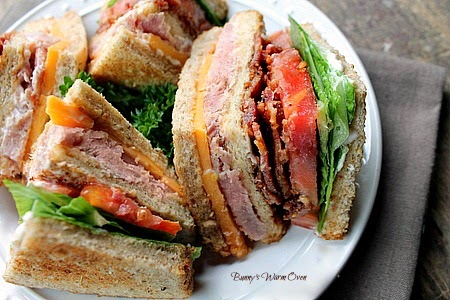 Ham and Cheese Club Sandwich
