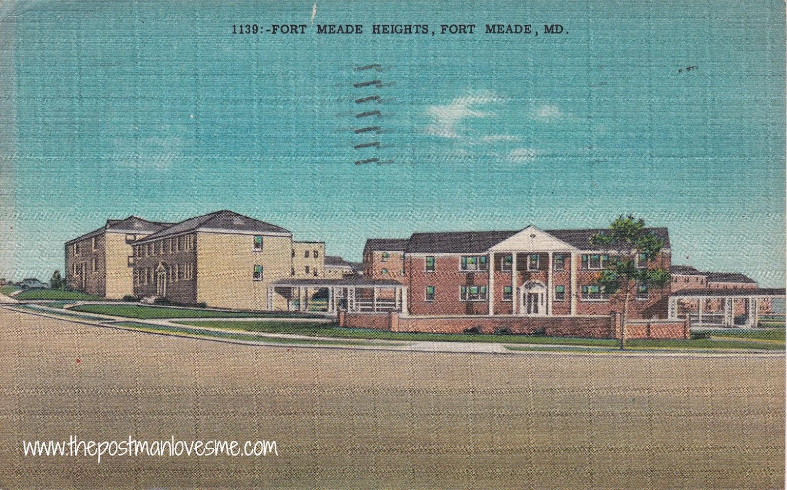 Fort Meade Vintage Postcard