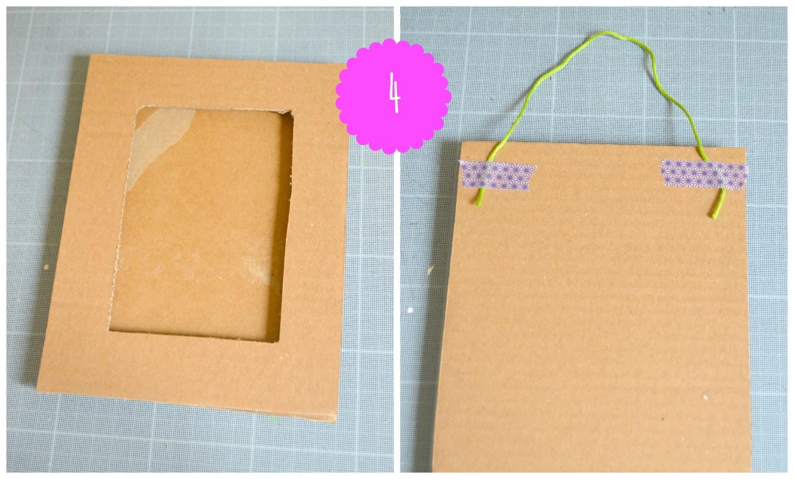 abbastanza Idee per la festa della mamma: la cornice di cartone riciclato MS02
