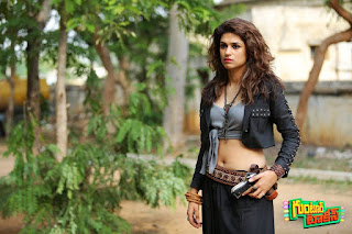 Shraddha Das looks Gorgeous Beautiful in Movie Guntur Talkies Wearing a Short Tank Top and Trousers