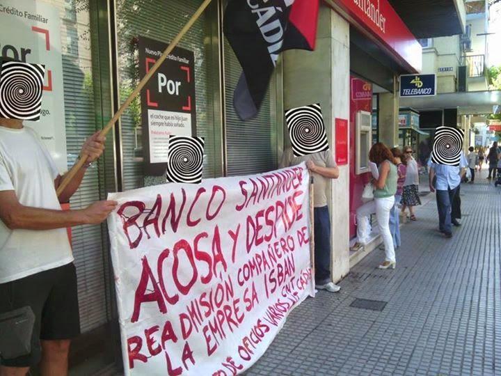 solidaridad del Sindicato de Telecomunicaciones y Servicios Informáticos de Madrid y de su sección sindical en ISBAN-PANEL SISTEMAS, compañer@s del Sindicato de Oficios Varios de Cádiz y de Chiclana de la CNT-AIT