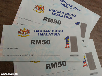 Tarikh Baucar Buku 1Malaysia (BB1M) 2013 Diedarkan
