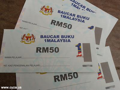Tarikh Baucar Buku 1Malaysia (BB1M) 2013 Diedarkan