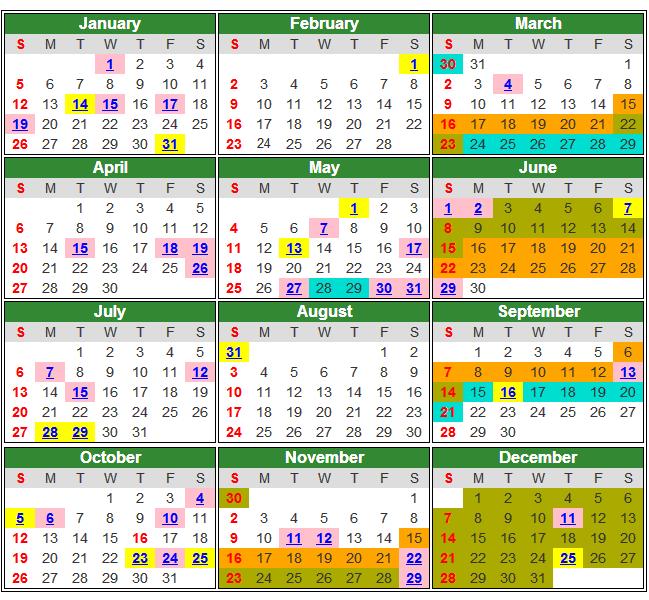 Kalender Cuti Umum & Cuti Sekolah Malaysia 2014