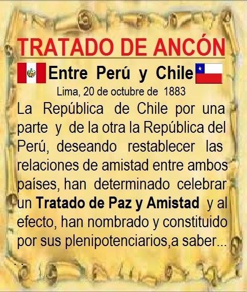 TRATADO DE ANCÓN (entre Perú y Chile), 1883