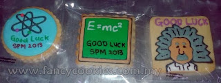 blackboard, albert einstein cookies