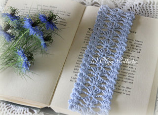 Blue Lace Bookmark Pattern, $2.45