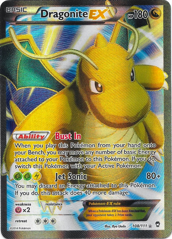 Dragonite EX Full Art -- Furious Fists Pokemon Card Review ... Wailord Pokemon Card
