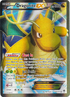 Dragonite EX Full Art Furious Fists Pokemon Card