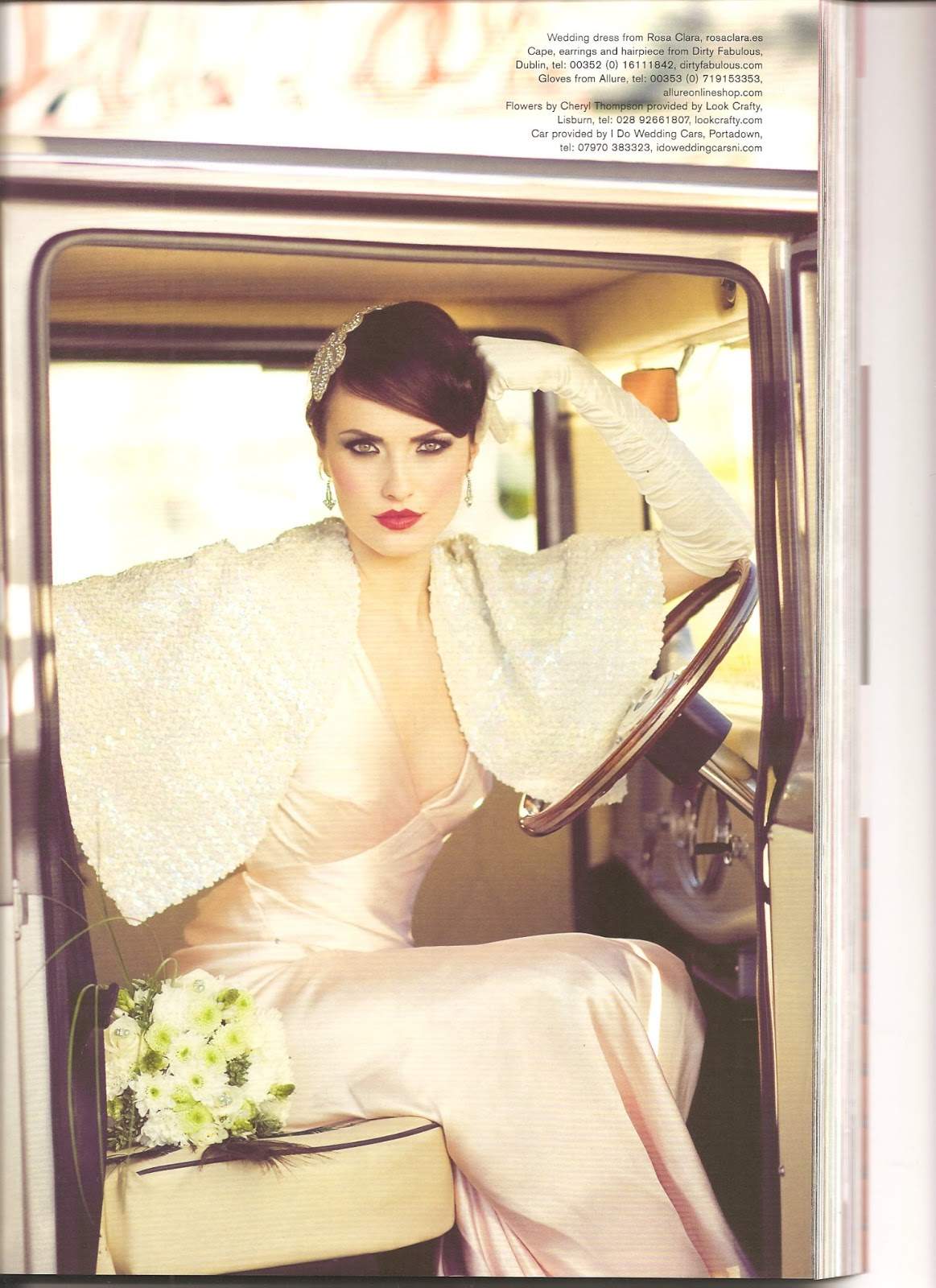 Be Bespoke Bridal Headpieces Ireland - Bespoke rhinestone headpiece and 1930s sequin cape by dirty fabulous