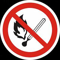фото Знак не пользоваться открытым огнём