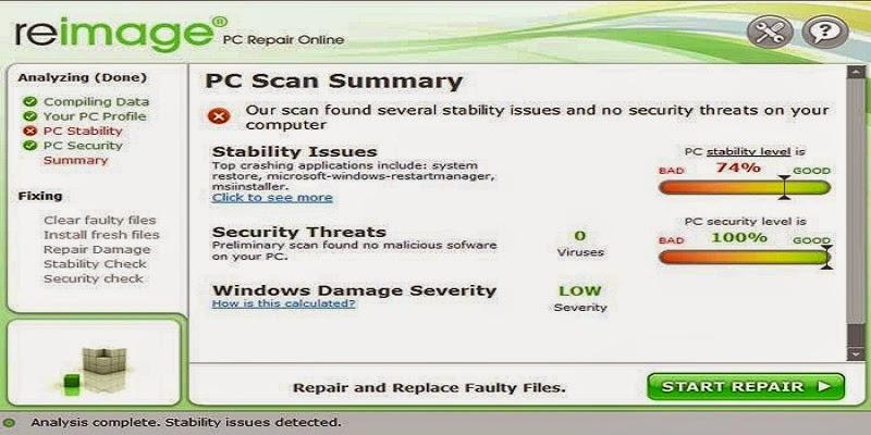 reimage pc repair 2017 license key crack full version