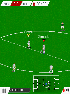Screenshots of the Real Football 2016 for java mobile, phone.