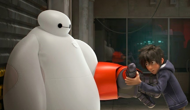Big Hero 6 movie still baymax hiro gloves