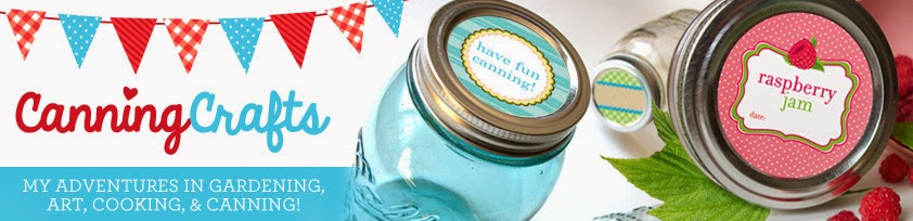 Colorful Adhesive Canning Jar Labels
