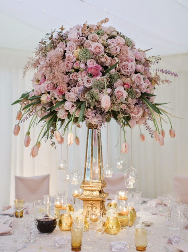 12 stunning wedding centerpieces 27th edition belle for Centerpiece arrangements for weddings