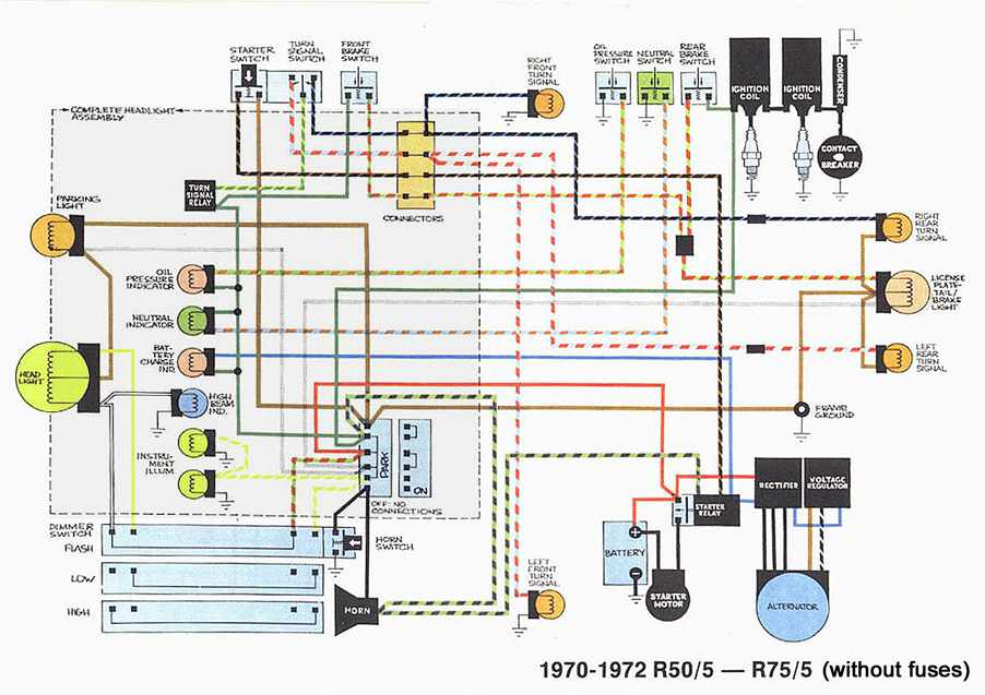 4 post wiring diagram 4 automotive wiring diagrams wiring diagram of 1970 1972 bmw r50 5