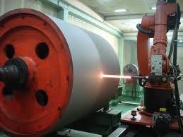 Ứng dụng phun phủ các trục lăn trục quấn trong ngành giấy, ngành thép, trục quấn