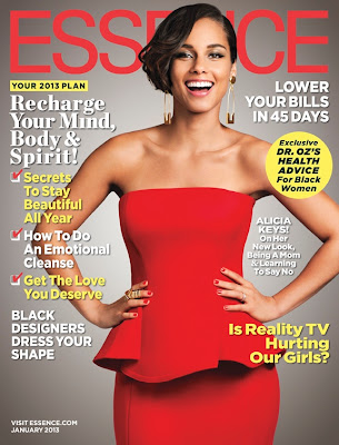 Alicia Keys on Essence Magazine cover, January 2013 Issue