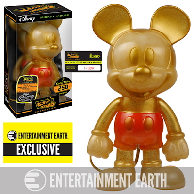 "Entertainment Earth Exclusive Disney ""Glitter Gold"" Mickey Mouse Hikari Sofubi Vinyl Figure by Funko"
