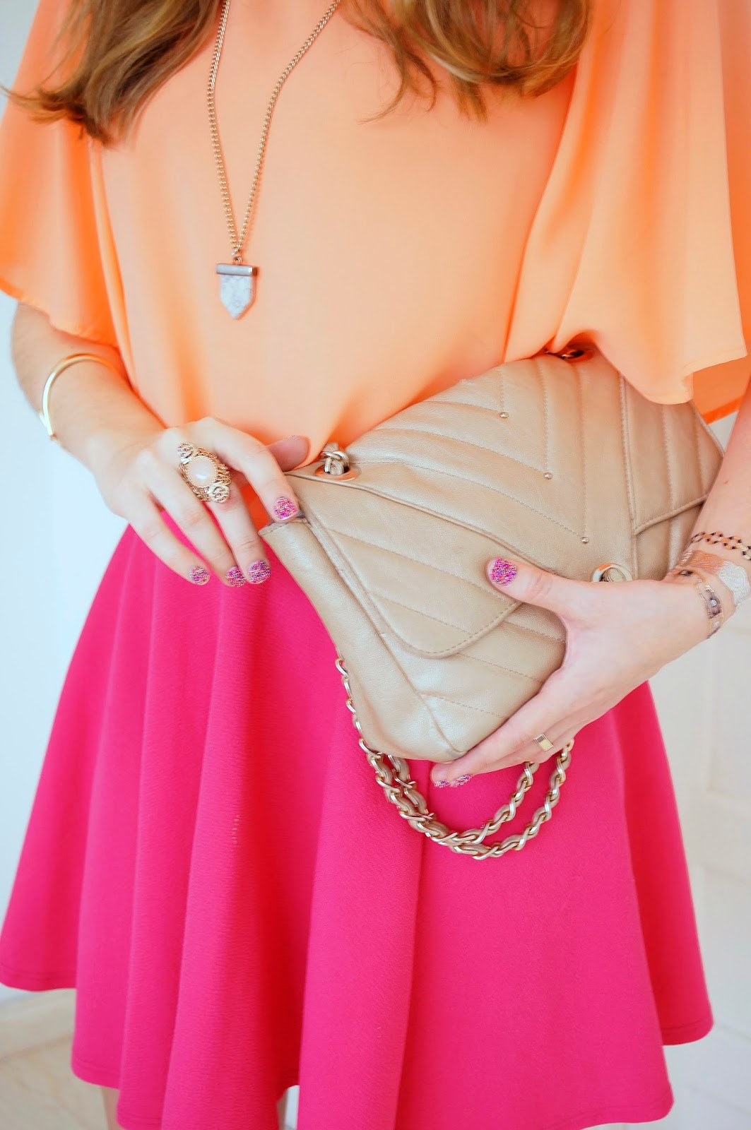 Pretty Orange and Pink Outfit