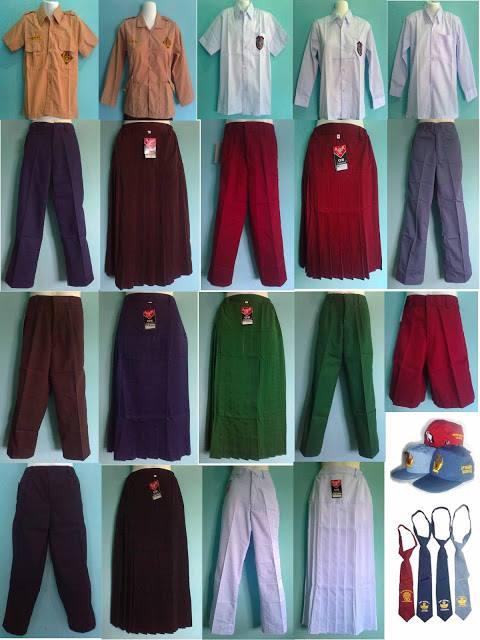 Membuat dan menyediakan seragam sekolah