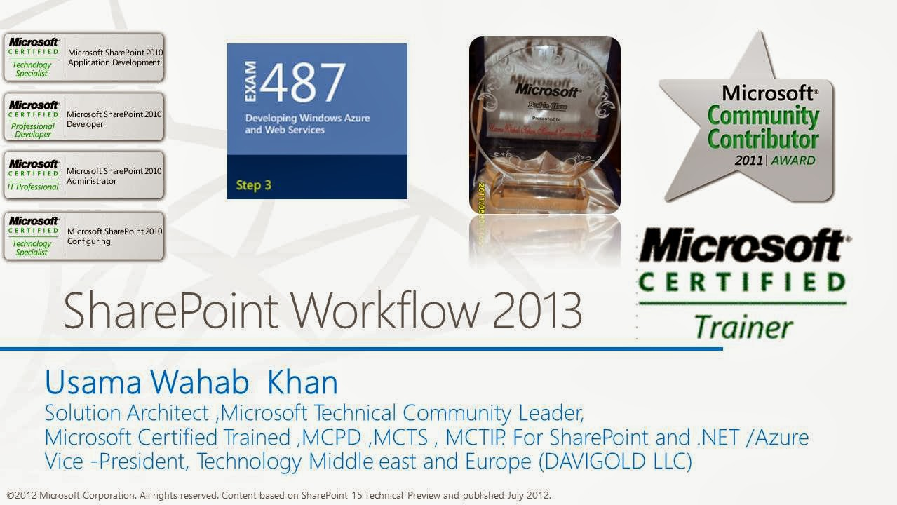 Usama wahab khan sharepoint 2013 workflow for developer dev videos and learning content on sky drive and give one pluralsight training vouchers hope we will keep motivating uae community for more sharepointing xflitez Gallery