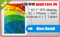 10.1 inch 3G Phone Tablet GPS