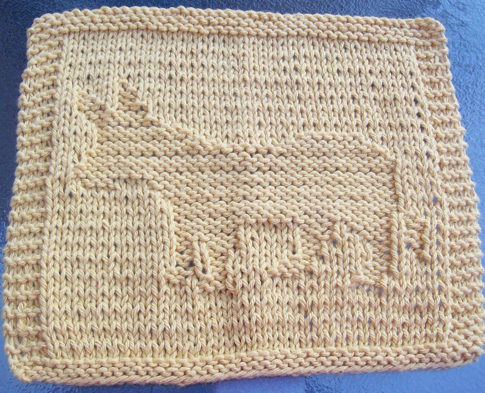 DigKnitty Designs: Donkey Knit Dishcloth Pattern