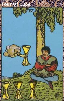 April 2015 LIBRA Tarot Card Reading Four Of Cups